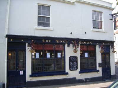 The Rose and Crown Pub at Larkhall